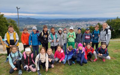 Tretješolci na Trikotni jasi (športni dan)